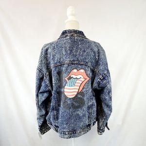 NWT Rolling Stones Oversized Jean Jacket size XL